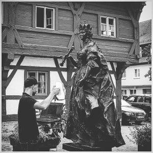 3D Scan Denkmalschutz - Kaiserin Maria Theresia Scanprozess