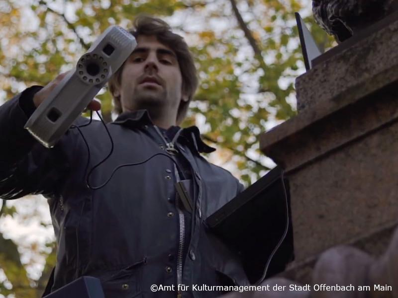 3D Scan Jacques Offenbach mit 3d Scanner Artec Eva