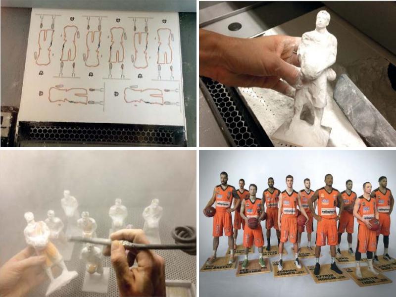 3D Druck Basketballmannschaft Ratiopharm Ulm