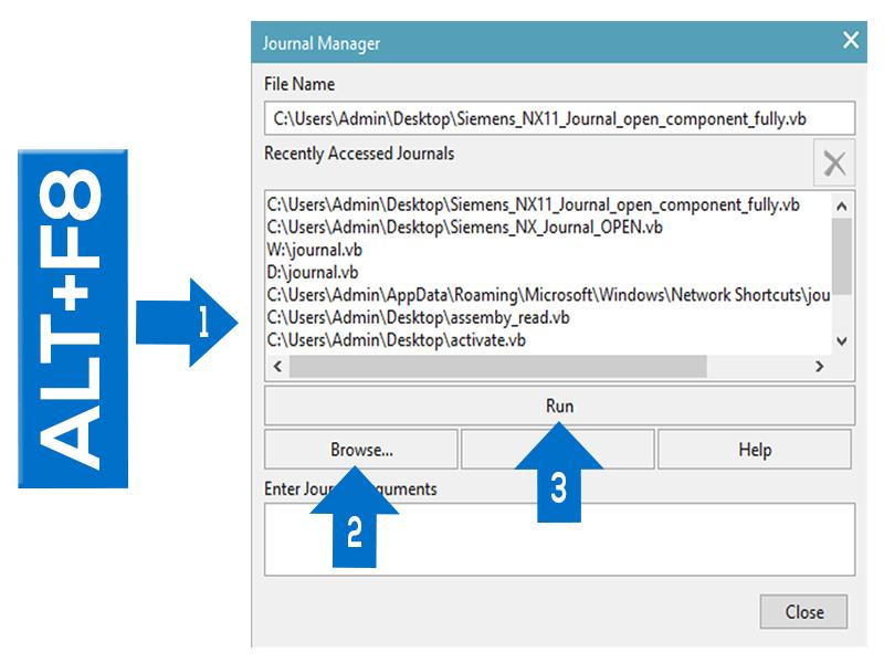 Siemens NX11 Start Journal open component fully